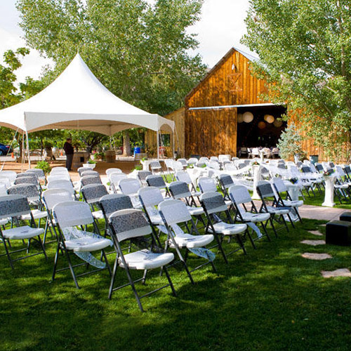 wedding guest seating at Amy's Courtyard in Palisade Colorado